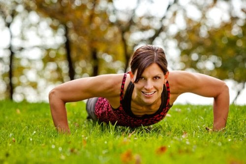 Push-ups can improve your upper body strength.