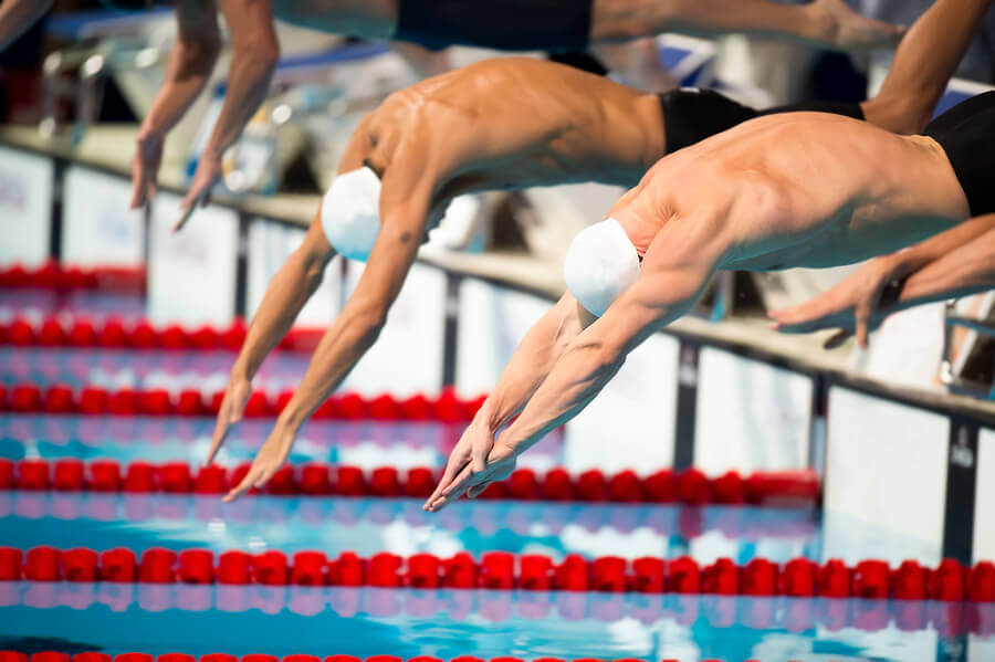 Men's competitive swimming