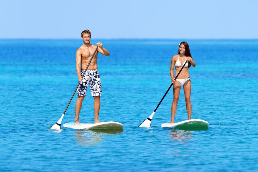 beach sports paddle surf