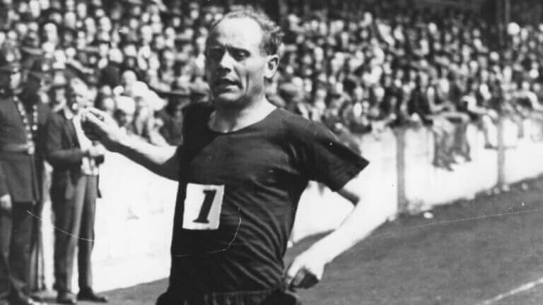 Paavo Nurmi, a Finish runner who is described in the text.