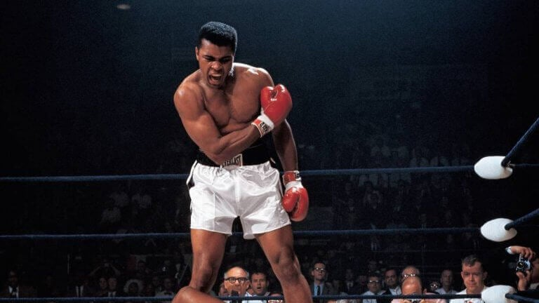 Muhammad Ali during one of his fights