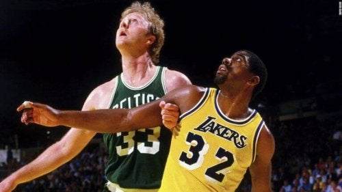 Magic Johnson and Larry Bird support the text about sports rivalries