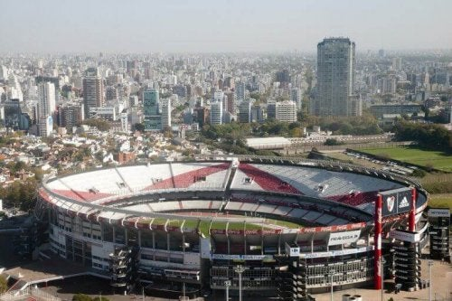 Photo of a stadium in Buenos Aires, a city with sport everywhere, as described by the text