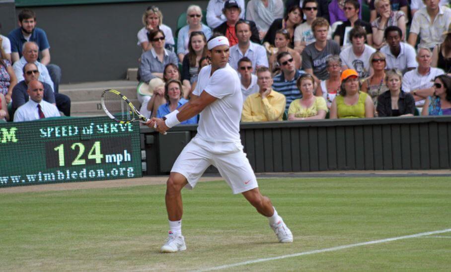 Rafa Nadal in Wimbledon.