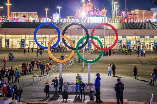 A picture of the Olympic rings which represent the five continents who must all follow the Olympic Charter.