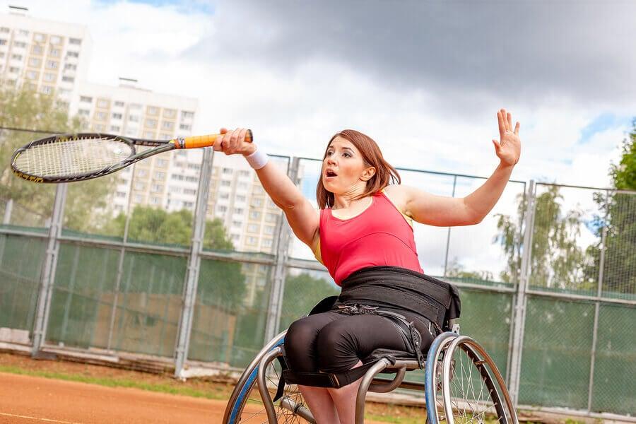 wheelchair tennis bounce