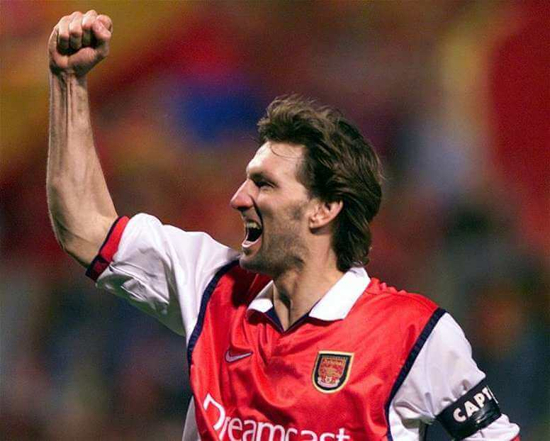 Tony Adams, a legend of Arsenal and soccer players who played in a single club.