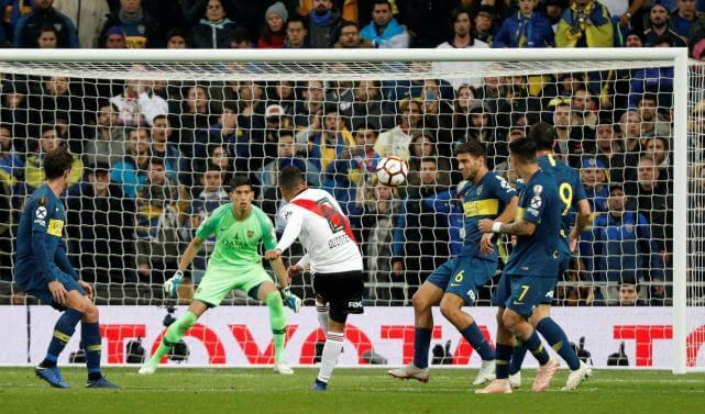 The Boca-River rivalry had its peak in Madrid.