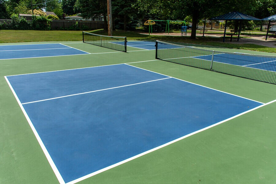 Pickleball playing field