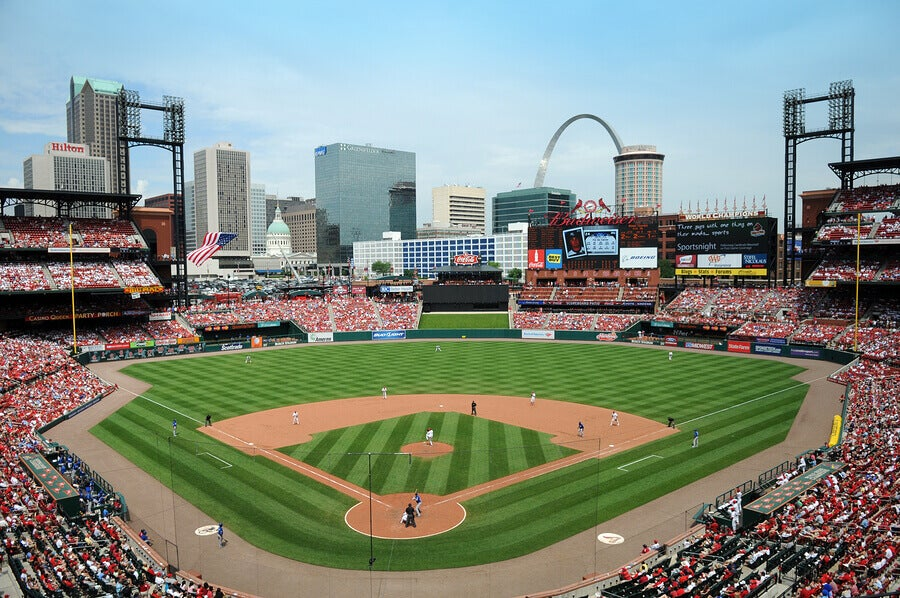 The Busch Stadium is one of the most impressive in the world.