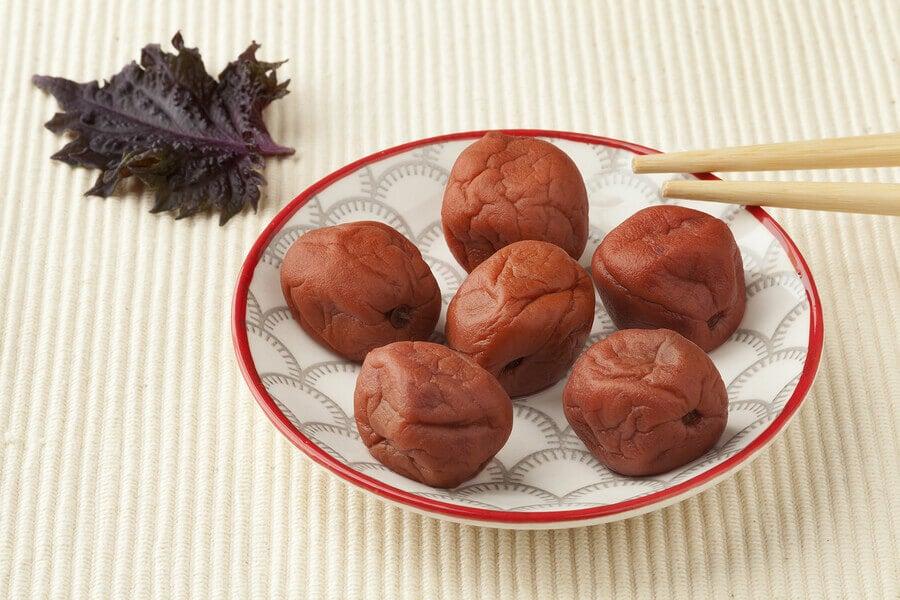 Umeboshi plum is typical of Japan.