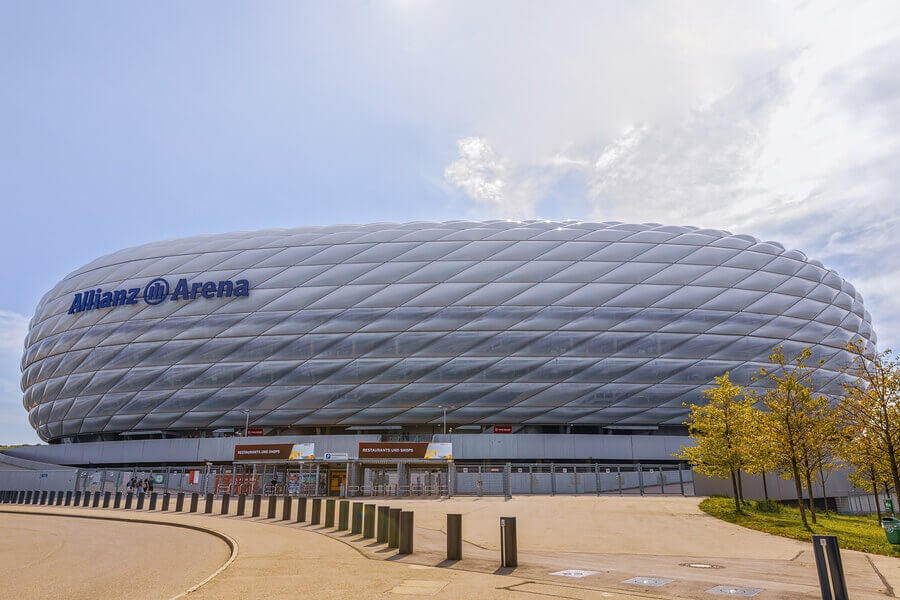 The Allianz Arena, home of Bayern Munich, is one of the best stadiums in the world.