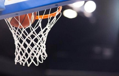 A basketball net, part of athletic gear important to the sports industry