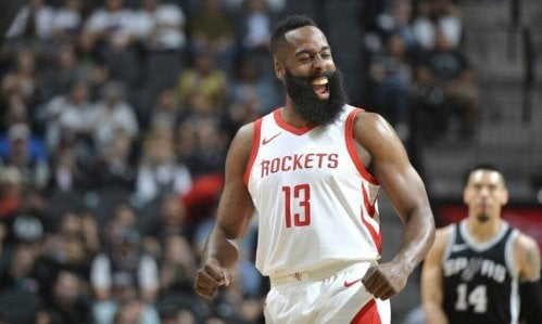 James harden who plays with the houston rockets in the NBA.