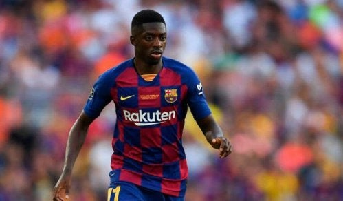 Ousmane dembele who is one of the most expensive transfers in history on the field.