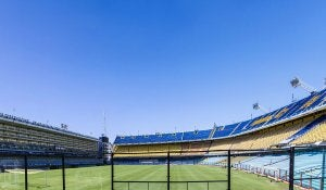 "The ""bombonera"" stadium in Argentina."