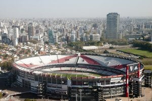 The River Plate stadium in Argentina.