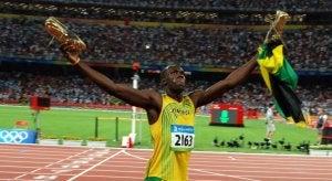 Usain Bolt after a race.