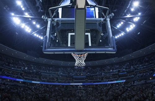 A professional basketball stadium.