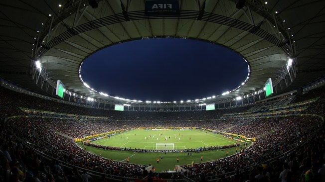 Soccer stadium in Brazil during one of the major events organized by FIFA