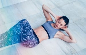 A woman doing abdominal exercises.