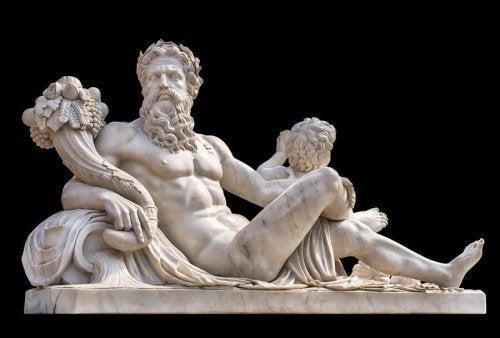 A statue of a Greek god.