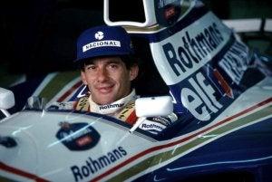 Ayrton Senna, an F1 driver.
