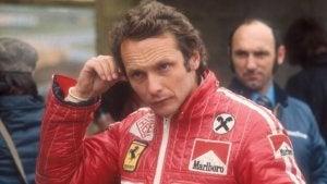 Niki Lauda, famous F1 driver.