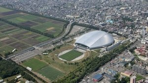 The Sapporo Dome is one of the soccer stadiums for the 2020 Olympics.