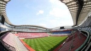 The Kashima stadium.