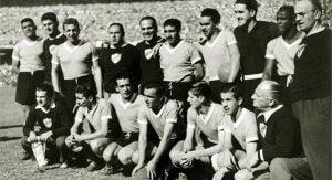 The Uruguayan team in the Maracanazo.