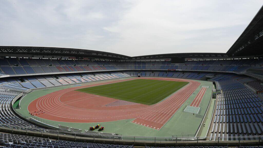 The Yokohama soccer stadium in Tokyo.