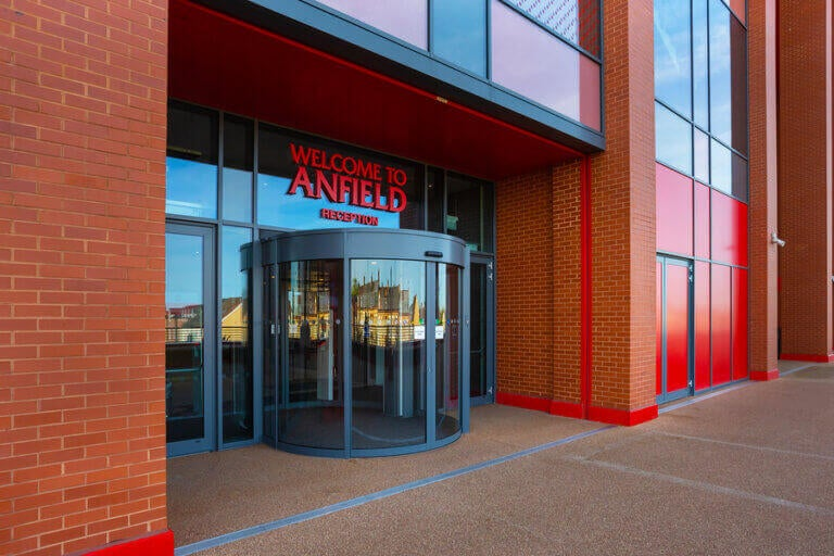 Entrance to the Liverpool Anfield stadium
