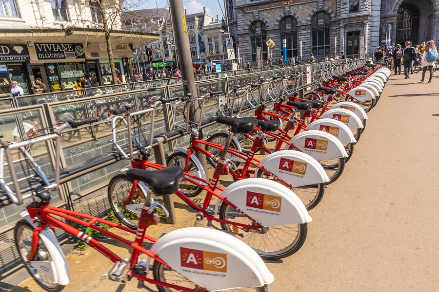 Bike rentals in Antwerp.