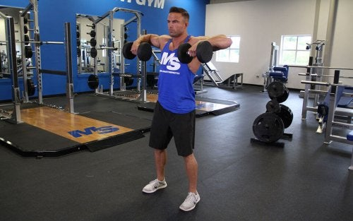 The upright row is a fantastic exercise for the shoulders and back