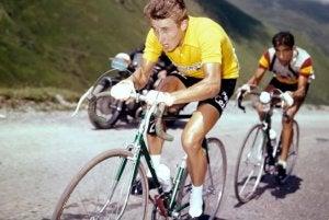 Jaques Anquetil winning a Grand Tour.
