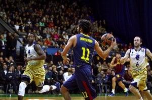 Juan Carlos Navarro in a basketball match.