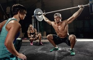 People doing a CrossFit workout.