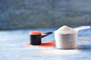 Creatine and caffeine supplements.