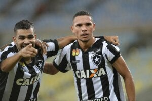 Two players for Botafogo, one of the big four of Rio de Janeiro.