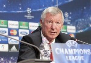 Alex Ferguson, the coach for Manchester United.