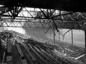 Old Trafford destroyed.