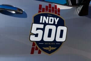 The Indy 500 logo.