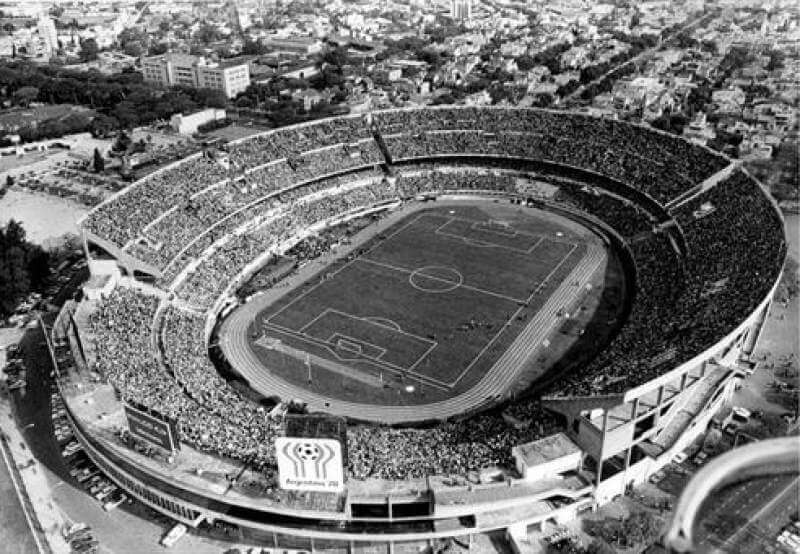 Top view of the Monumental Stadium, home of the River Plate