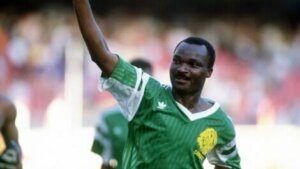 Roger Milla, one of the soccer players with the longest careers.