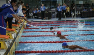 Paralympic Blind Swimming