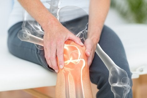 Knee joint and knee pain in men.