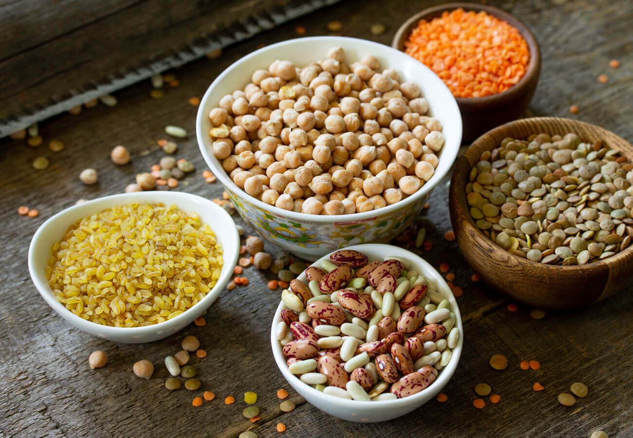Plate of legumes
