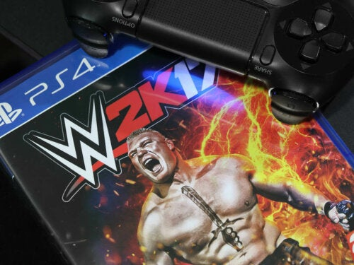 The PS4 game WWE 2K17.