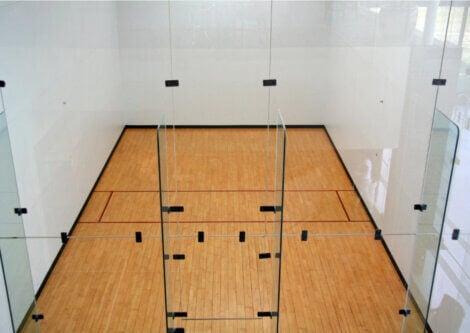 A racquetball court